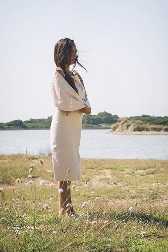 zurh vestido algodon nacar mujer curvy albufera diseño moda woman dress moda fashion qagyuhl
