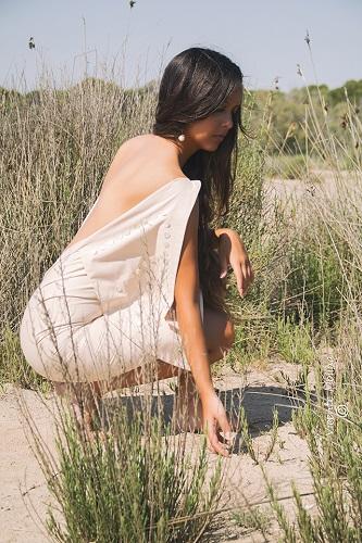 zurh vestido algodon nacar mujer organico eco curvy albufera diseño moda woman dress moda fashion qagyuhl